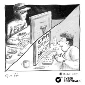 shopping online Cyber Essentials