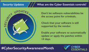 Cyber Essentials Security Updates Control