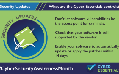 The Five Core Controls of Cyber Essentials – Security Update Management