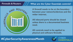 Cyber Essentials Control Firewalls and Routers
