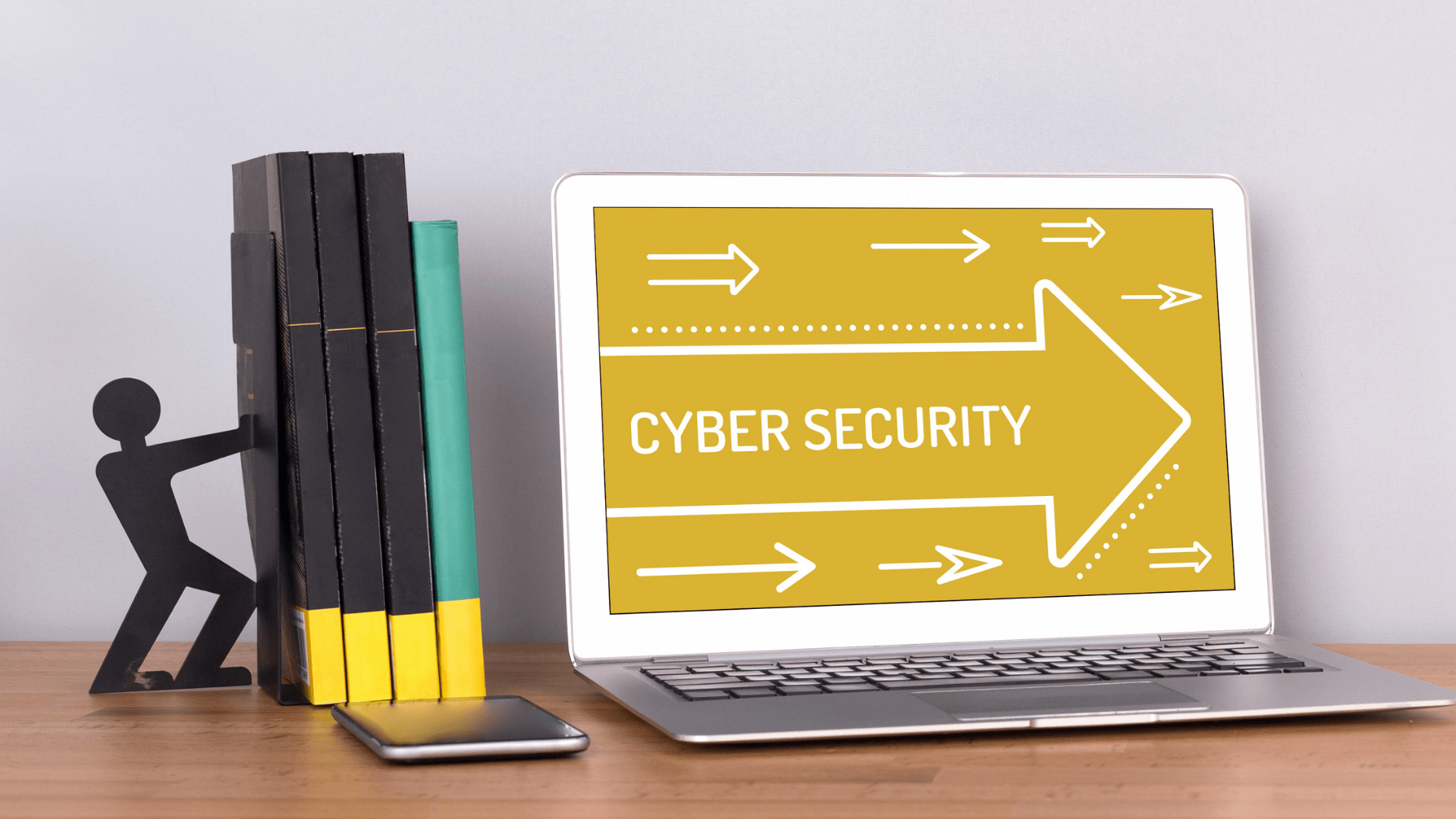Yellow Laptop Cyber Security